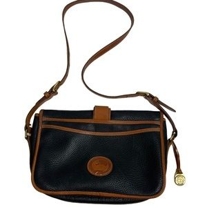 Vintage Dooney & Bourke Black Pebble Leather Purse
